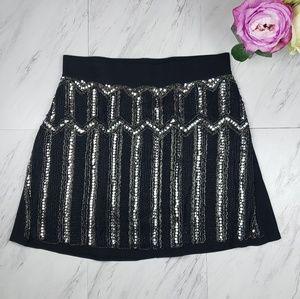 Torrid Black Sequin Skirt NWT SZ1